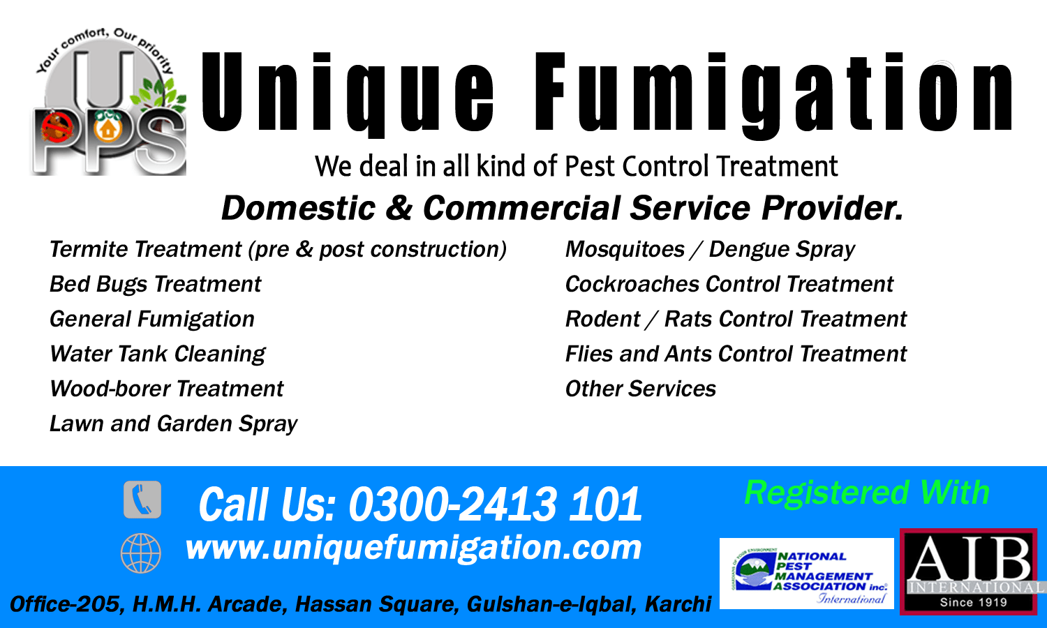 Fumigation / Pest Control Service All Over Karachi, Water Tank Cleaning - Unique Fumigation 6