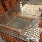 1 Double Top Glass Dining Table with 6 Chairs e1509375463205