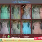 1 Embroidered Full Flair Long Maxi Collection with Original Net Fabrics