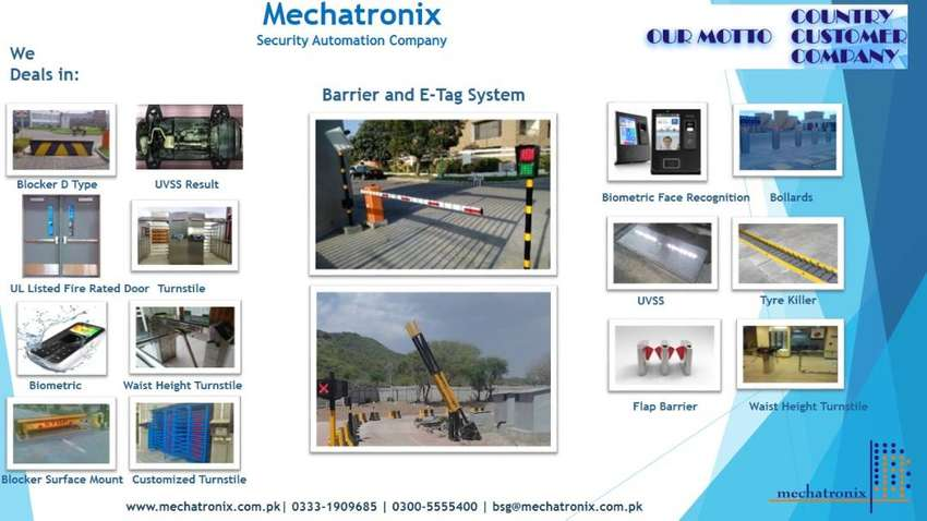 High Quality Full Height Turnstiles, Barriers & E-Tag System 18